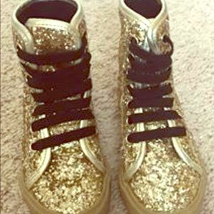Other - Gold high top sneakers